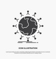 global student network globe kids icon glyph gray vector image