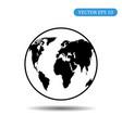 globe icon eps 10 vector image vector image