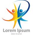 Gymnastic logo vector image vector image