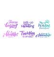 handwriting slogans summer memories typography vector image
