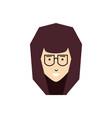 head of young woman with eyeglasses vector image vector image