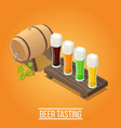 isometric brewery background vector image