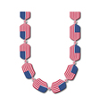 Letter U made of USA flags in form of candies vector image vector image