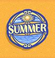 logo for summer season vector image vector image
