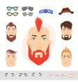 man face emotions constructor vector image vector image