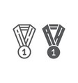 medal line and glyph icon badge and award prize vector image vector image