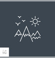 mountains landscape related line icon vector image vector image