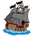 pirate vessel vector image