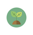 plant ground green energy block icon vector image vector image