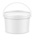 plastic bucket for paint 01 vector image vector image
