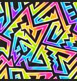 rainbow neon geometric seamless pattern vector image vector image