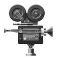 Retro camera icon gray monochrome style vector image