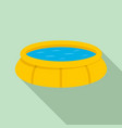round inflatable pool icon flat style vector image