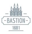 royal bastion logo simple gray style vector image vector image