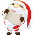 Santa Claus painted on a white background vector image vector image