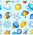 seamless pattern with cute kawaii weather items vector image