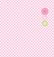 Seamless pink and green background Collection for vector image vector image