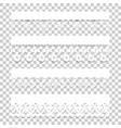 set lace borders with shadows vector image vector image