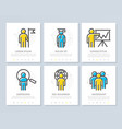 set of human resources and business vector image vector image