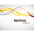 Silver Techno Background vector image vector image