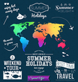 Summer design Set of typographic labels for summer vector image