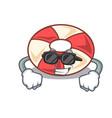 super cool swim tube character cartoon vector image