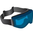 Tinted ski goggles vector image