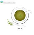 Uzbek Green Tea Popular Dink in Uzbekistan vector image vector image