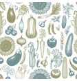 vegetables hand drawn seamless pattern vector image vector image