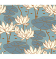 Vintage water lily seamless pattern Classic vector image vector image