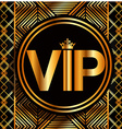 vip card vector image vector image