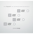 White round and strip design template vector image vector image