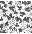Wine seamless pattern with grapes and leaves vector image