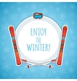 Winter sports background vector image vector image