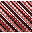 With red black and white diagonal parallel stripes