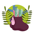 world mental health day girl with leaves in head vector image vector image