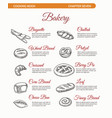 bakery cooking book page with bread vector image