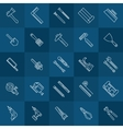 Tools line icons vector image