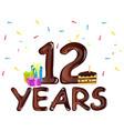 12th year anniversary celebration design