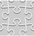 3d paper seamless puzzle pattern vector image