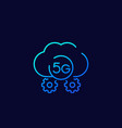 5g network icon line vector image