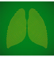 abstract human lungs radial lines vector image vector image