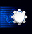 abstract technology background cogwheels theme vector image vector image
