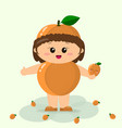 baby in the suit of apricot vector image vector image