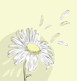 Background with daisies vector image vector image