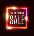 black friday banner seasonal sale design template vector image vector image
