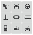 black video game icons set vector image vector image