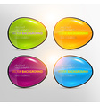 Bright Button Design Set vector image vector image