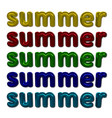 bright colorful lettering composition summer with vector image