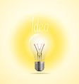 Bright lamp Idea concept vector image vector image